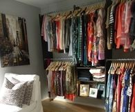 Chevron rug and closet