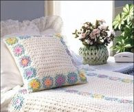 Crocheted Bedspread & Pillowcase