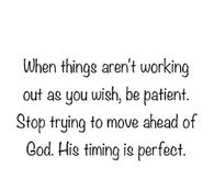 His Timing Is Perfect