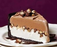 Chocolate peanut ice cream cake