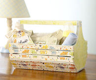 Wooden baby caddy