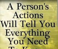 A person actions