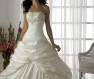 New White/Ivory Wedding Dress Train wedding dresses lace up back