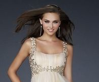 Short gold prom dress