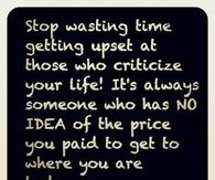 stop wasting time getting upset