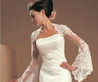 Glamorous Long Sleeve Lace Wedding Jacket