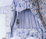 Beautiful Blue & White Bedroom