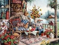 Country Porch Illustration