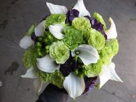 Green, White & Purple Bouquet