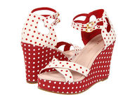 Red & White Polka Dot Wedges
