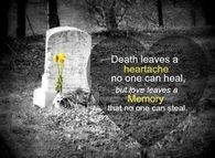 Death Leaves A Heartache