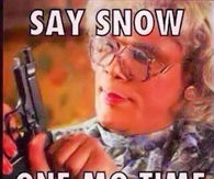 Say Snow One Mo Time
