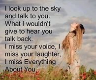 I miss everything about you