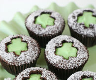 Shamrock Cut Out Cupcakes