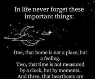 In life never forget these important things