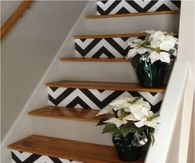 DIY Chevron Stairs