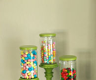 Candle stick apothecary jars