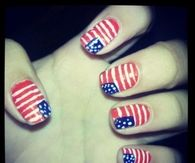 USA Flag Nails