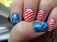 American flag inspired nails