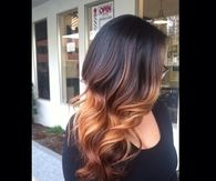 Painted hair ombre with long layers