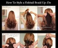 DIY Fishtail Braid Up Do