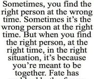 the right person at the right time