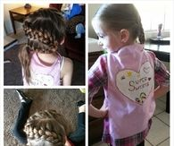 S shaped french braid