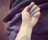 Perfect blue nail art