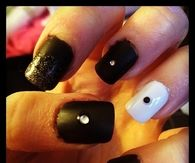 Black and white stud nails