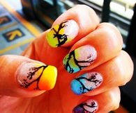 Spring colorful nail art