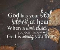 God has your best interest at heart