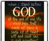 When I stand before God