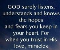 Trust in Gods love