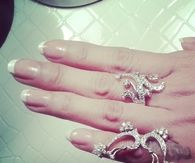 Precious diamond rings and french manicure