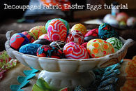 Decoupaged fabric easter eggs tutorial