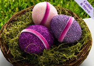 Glittered easter eggs with mod podge