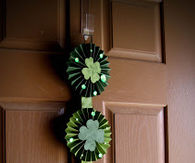 Four leaf clover lollies door hanger