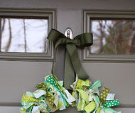 St pattys rag wreath