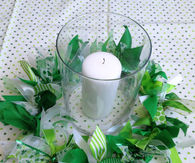 St patricks day candle ring wreath