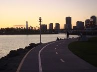 Bike riding in Long Beach