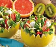 Salad fruit bowls
