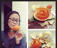 Orange peel rose