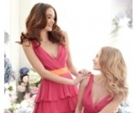 Sheath Column V Neck Short Bridesmaid Dress