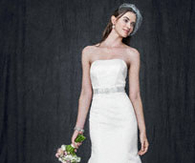 Strapless Trumpet Gown With Ribbon