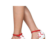 Hello Kitty Red and White Wedges