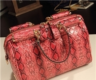 Patent Leather Snake Printing Fashion Handbags for Women