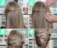 5 steps to a boho ponytail