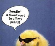 a shot out to all my peeps