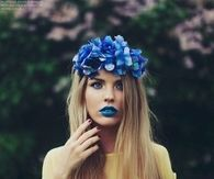 Blue Flower Garland
