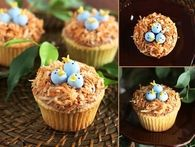 DIY Birds Nest cupcakes